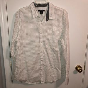 Structure | Men's White Print Button Down XL